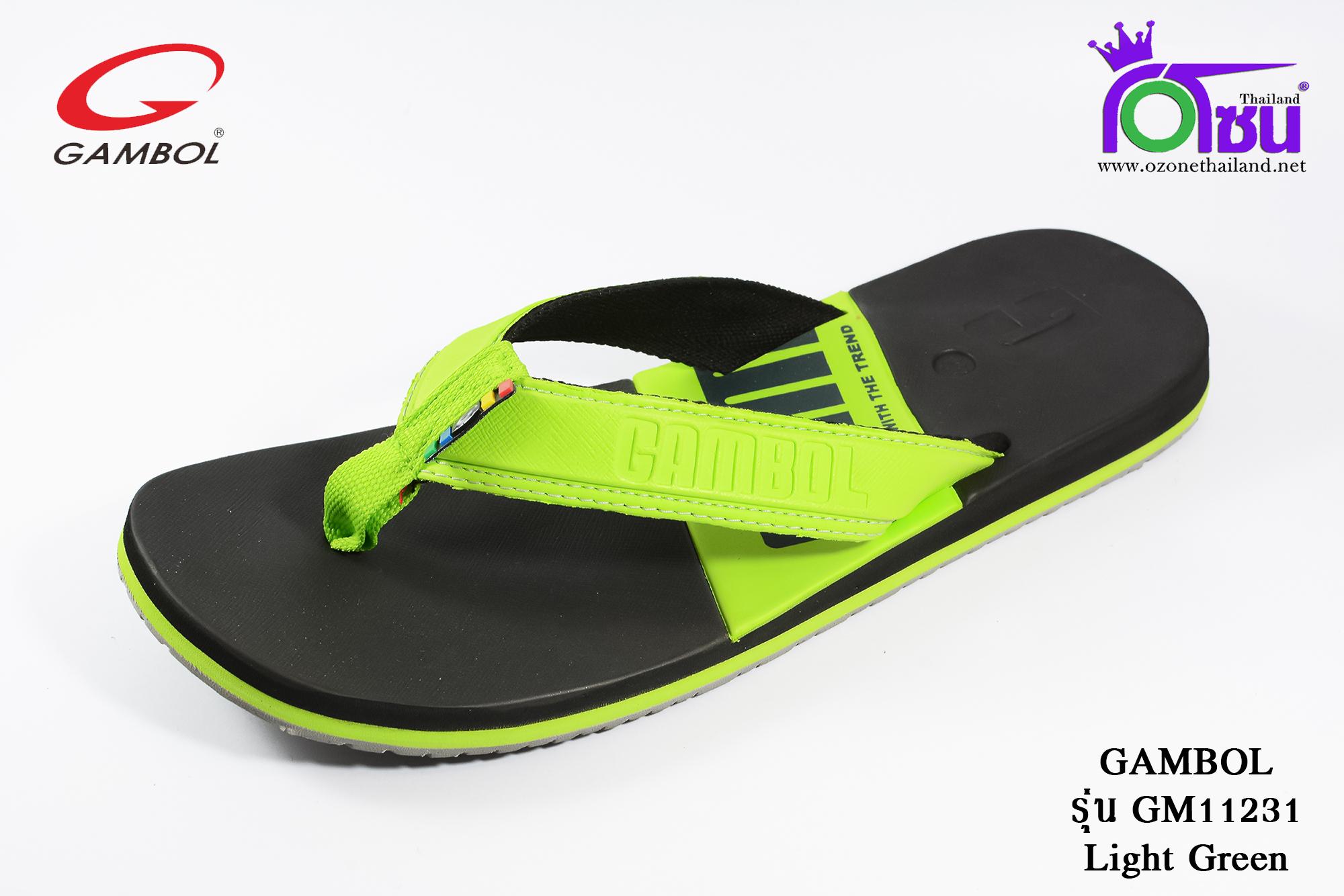 รองเท้าแตะGambol แกมโบล รหัส GM11231 สีเขียวอ่อน เบอร์ 40-44