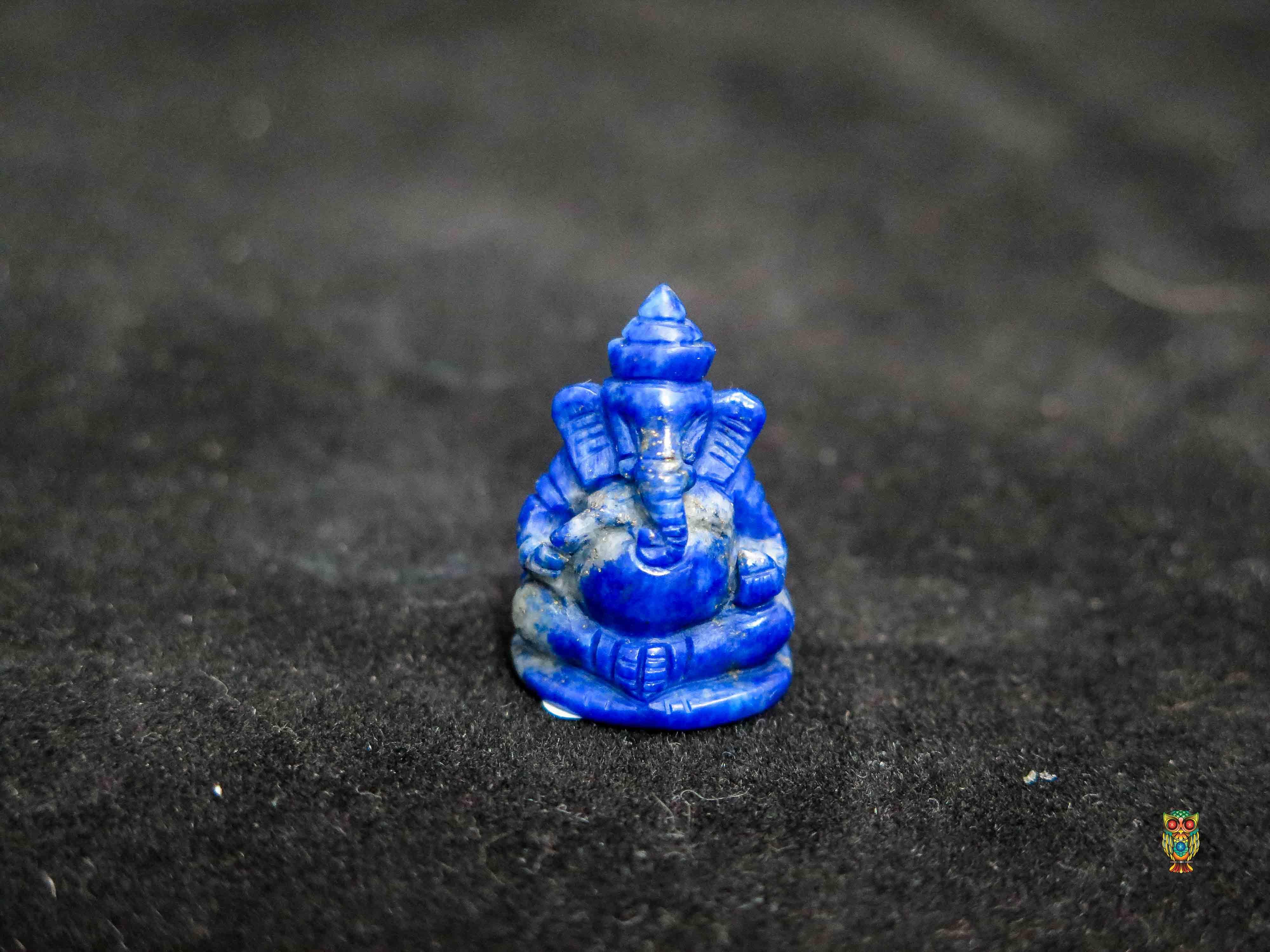 พระพิฆเนศวรแกะราปิด (Lapis Lazuli Craving )