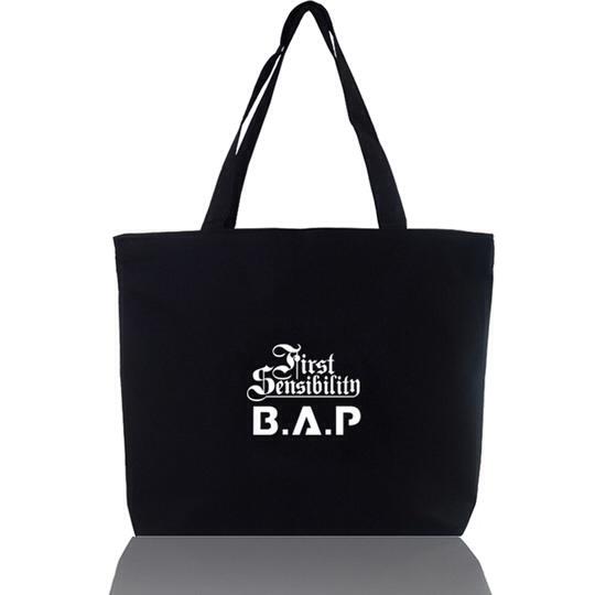 กระเป๋าผ้า B.A.P bap (สีดำ)