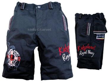 K472PA-8 Kidsplanet กางเกงเด็ก ขาสั้น สีกรมท่า สกรีนและปักลาย Kidsplanet Royal Navy เหลือ Size 12M/24M