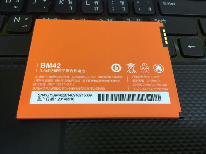 แบตเตอรี่ Xiaomi Red mi note1/ red mi note 4G 3100 Mah ของแท้
