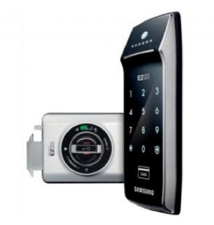 กลอนประตูดิจิตอล Samsung SHS-2320 รหัส-การ์ด บานเลื่อน สินค้านำเข้าจากประเทศเกาหลี