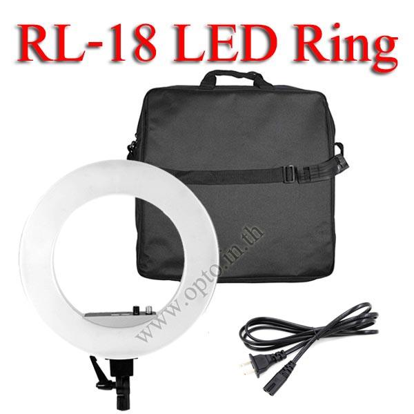 RL-18 3300k-5500k LED Ring light 48W Light for Video ไฟต่อเนื่อง ถ่ายรูป ถ่ายวีดีโอ ไฟแต่งหน้า