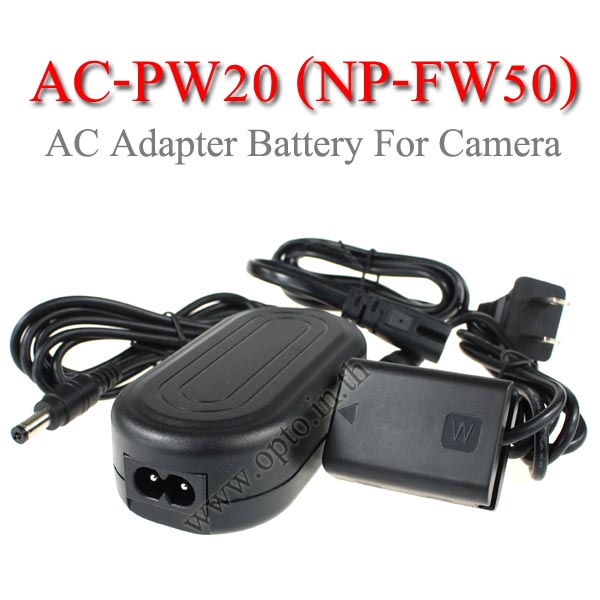 AC-PW20 AC Adapter Battery NP-FW50 for Sony Camera A7R A7S A7 A7M2 A7II แบตเตอรี่แบบเสียบปลั๊กไฟ