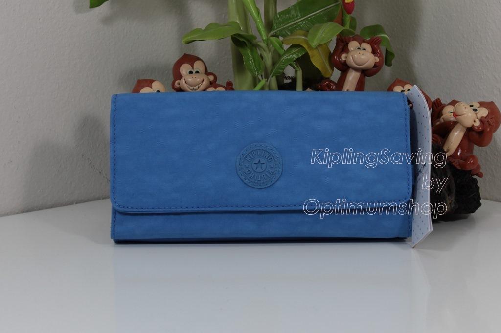 Kipling Teddi Blue Skies หรือชื่อเดิม Brownie กระเป๋าสตางค์ใบยาว ขนาด 7.5x3.75x1xนิ้ว