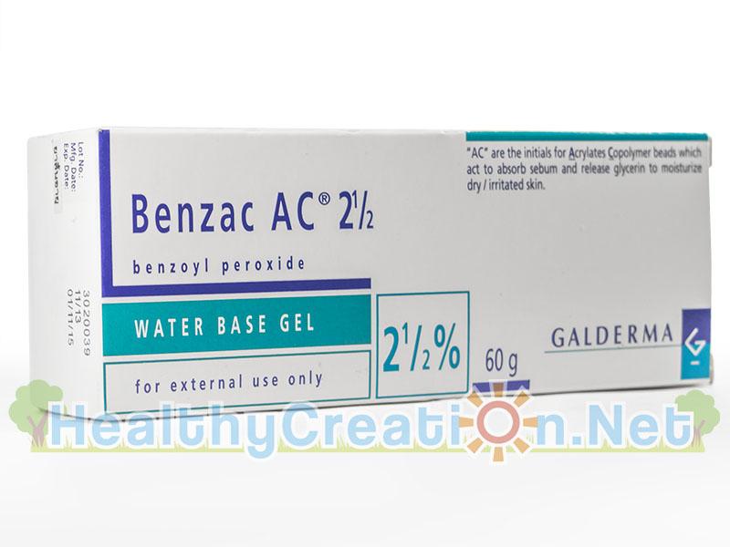 Benzac AC 2.5% เบนแซค เอซี ปริมาณสุทธิ 60 ml. ทำหน้าที่ในการฆ่าเชื้อโรค ซึ่งเป็นสาเหตุของสิวอักเสบอย่างได้ผล