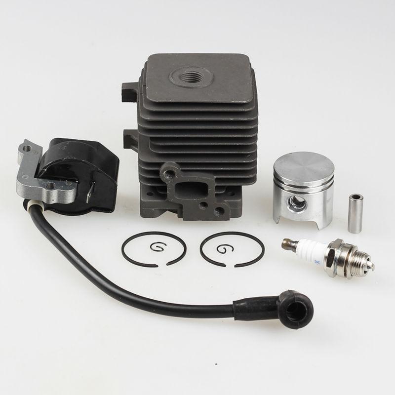 Cylinder Piston Ring Kits + ignition Coil Fit STIHL FS55 FS45 KM55 HL45 HS45 KM55 HL45 HS45 HS55 4140 400 1308 Trimmer