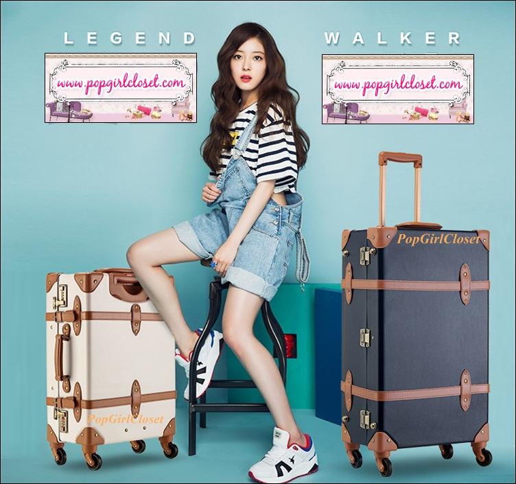 """กระเป๋าเดินทางดีไซน์วินเทจเรโทร วินเทจอัพเกรด 4 ล้อ """"BLUE"""" Vintage Retro Suitcase European Style World Trunk ไซส์ 20""""&24"""" หนัง PU+ABS (Pre-order) ราคาสินค้าอยู่ด้านในค่ะ สำเนา"""