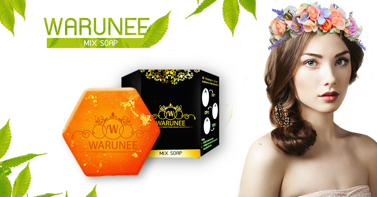 ผลิตภัณฑ์สบู่ สบู่สมุนไพรธรรมชาติ warunee mix soap