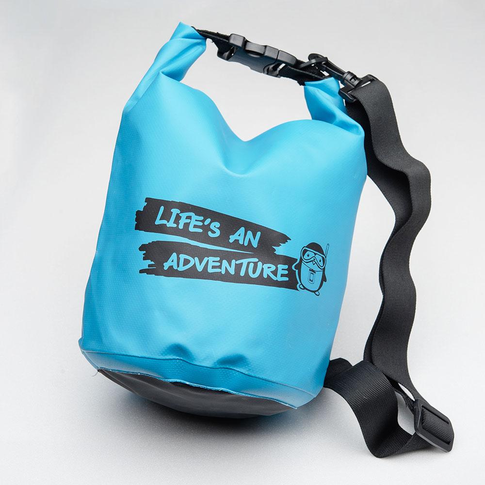 กระเป๋ากันน้ำ ถุงกันน้ำ Penguin Bag ขนาด 5 ลิตร สีฟ้า