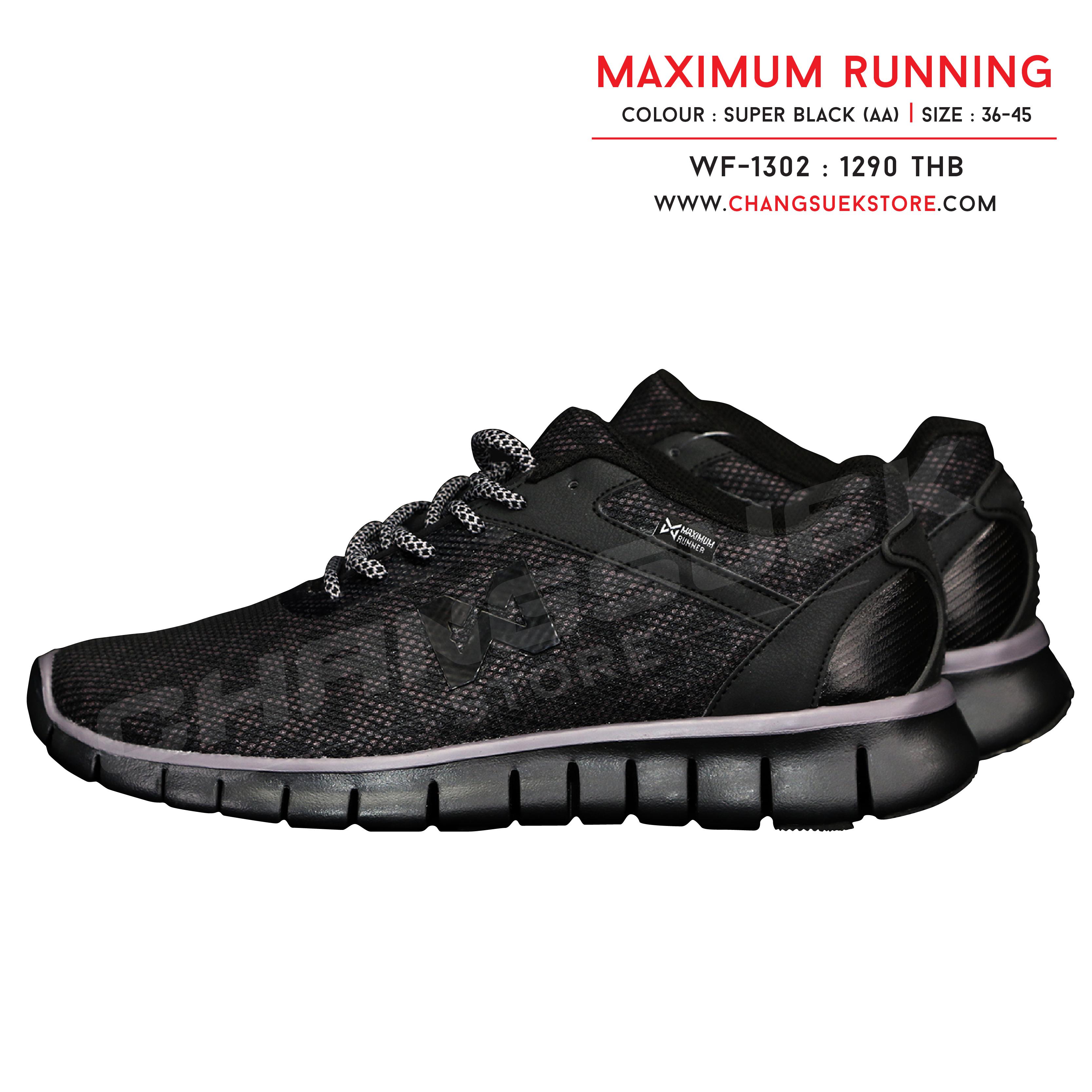 รองเท้าวอริกซ์ รันนิ่ง สีดำ WF-1302