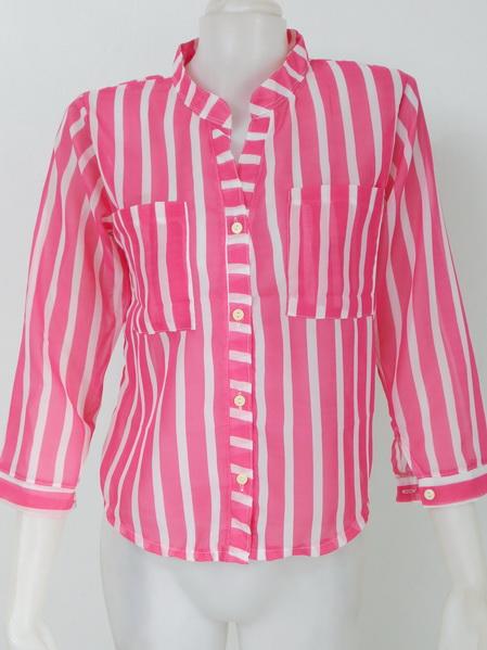901907 ขายส่งเสื้อผ้าแฟชั่นเสื้อผ้าชีฟองเนื้อดี คอจีนงานสวยดูดีค่ะ กระเป๋าหน้า รอบอก 32-38 นิ้ว ยาว 24 นิ้ว