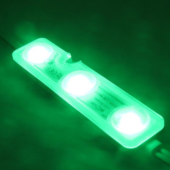 ไฟแอลอีดีโมดุลเกาหลี 3 ดวง สีเขียว กินไฟ 0.72 w แบรนด์ NCLED