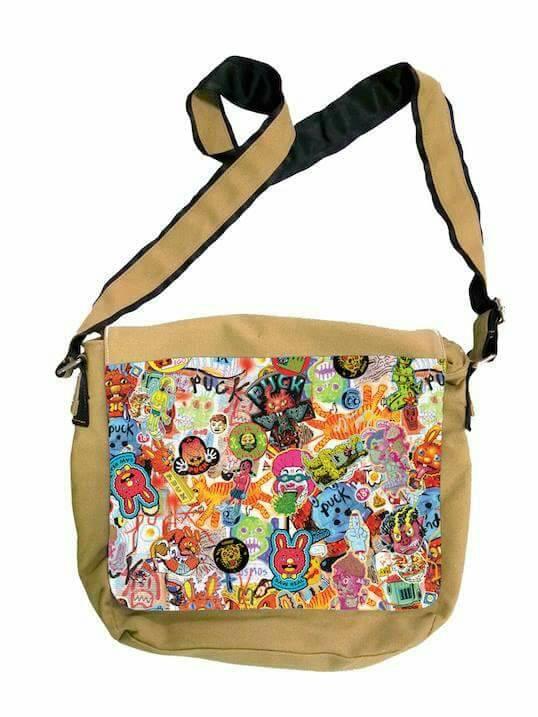 กระเป๋าสะพาย Let's Comic ออกแบบลายโดย PUCK 02