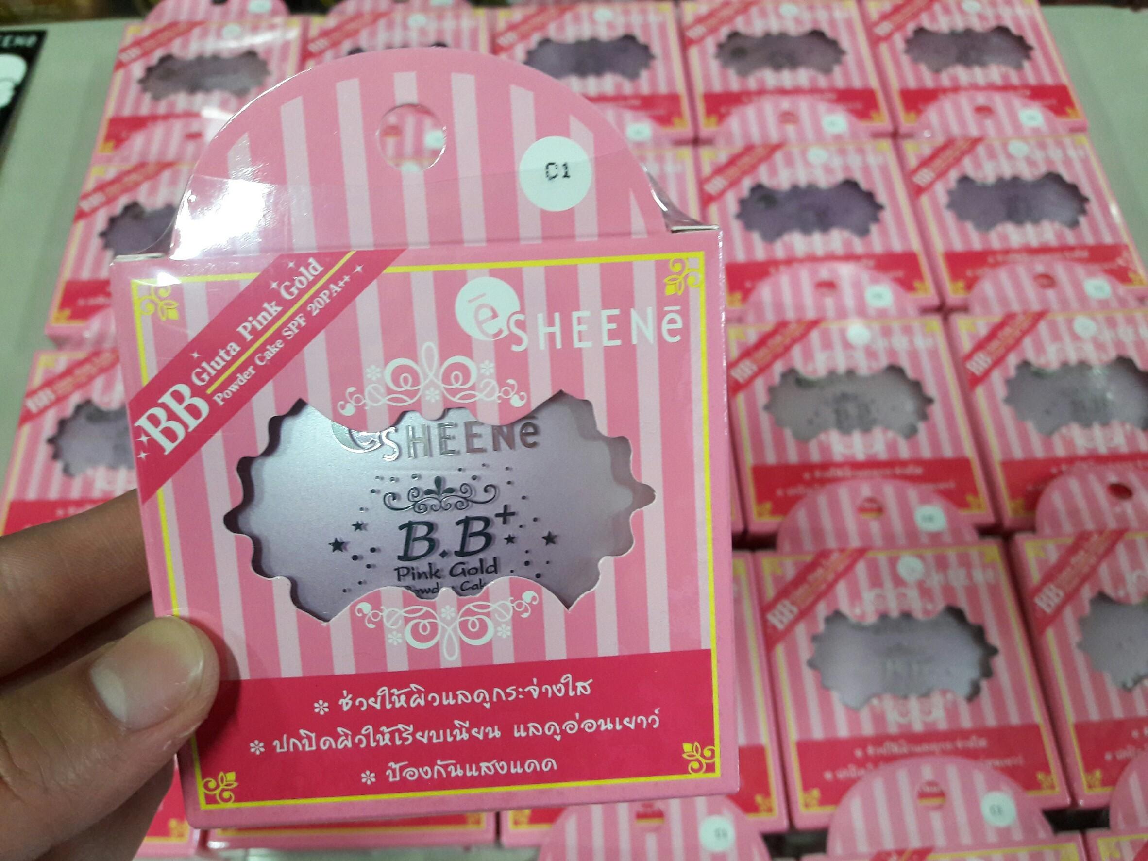 SHEENe BB PINK GOLD POWDER CAKE SPF 20 PA ++ ชีนเน่ บีบี พิงค์โกล์ด พาวเดอร์ เค้ก เอส พี เอฟ 20 พีเอ++