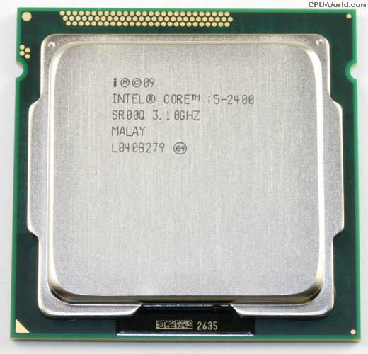 CPU i5-2400 up to 3.4Ghz