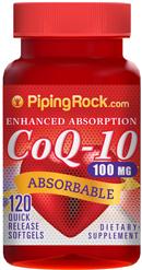 ป้องกันโรคหัวใจและหลอดเลือด ( CoQ-10 ) แบบเจลดูดซึมได้ดีเยี่ยม 100 mg | 120 Softgels