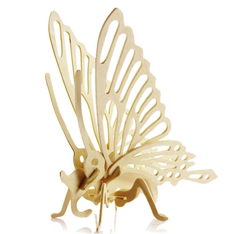 ตัวต่อไม้ 3 มิติ จิ้กซอว์ไม้ ตัวต่อไม้ผีเสื้อ 3D Animal Puzzle
