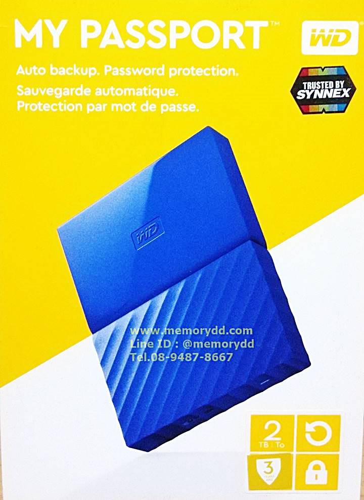 """WD New Passport Ultra 2017 2TB 2.5"""" (Blue) USB3.0 (WDBYFT0020BBL-WESN)"""