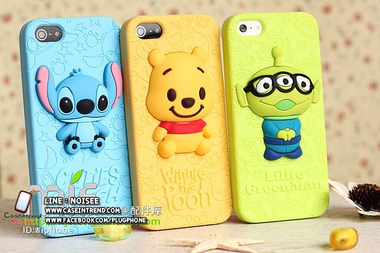 เคส iPhone5/5s ซิลิโคน Disney หมีพูห์ , สติช , กรีนแมน