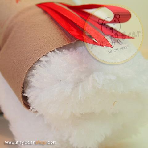 เซตผ้าขนปุยสำหรับเย็บตุ๊กตาหมี - โทนสีขาว white