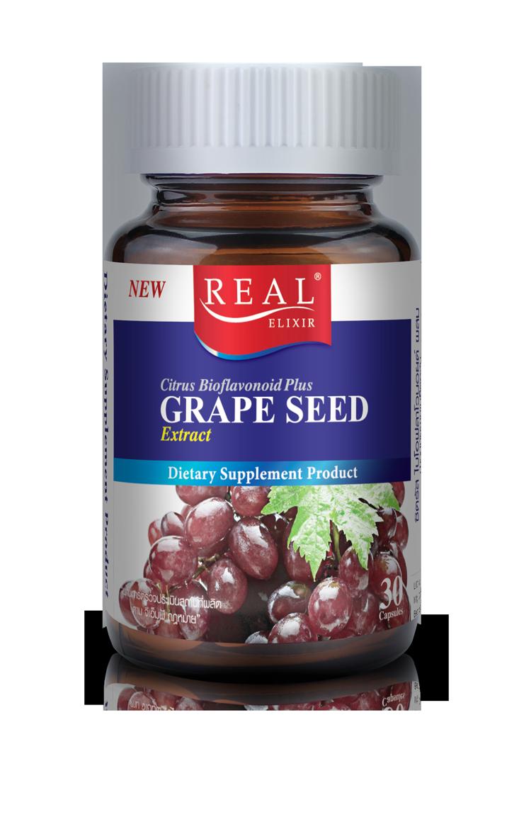 Real Elixir Grape Seed Extract 60 mg. เรียล เกรปซีด 60 มก.