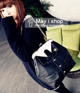 กระเป๋าแฟชั่นทรงเสื้อสูทสีดำออกแบบเก๋..ม๊ากมากค่ะ