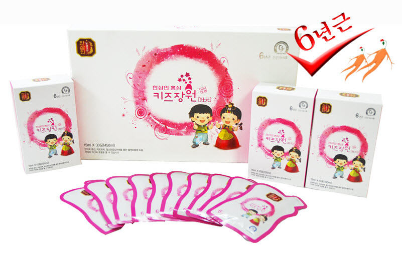 Korean Red Ginseng Extract For Kids (6년근 홍삼 키즈 장원)