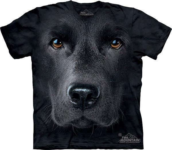 The Big Face Black Labrador dog T-Shirts
