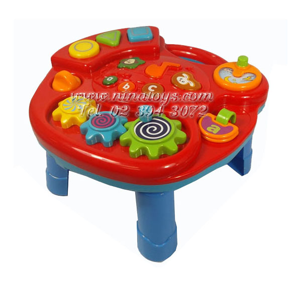 โต๊ะกิจกรรมดนตรีรุ่นเล็กสีแดง