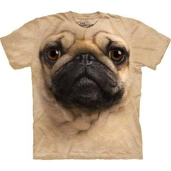 The Big Face Pug Dog Face T-shirts