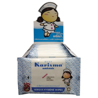 Product details of Karisma ผ้าเปียก เช็ดทำความสะอาดอเนกประสงค์ ( ซองละ 10 ชิ้น)