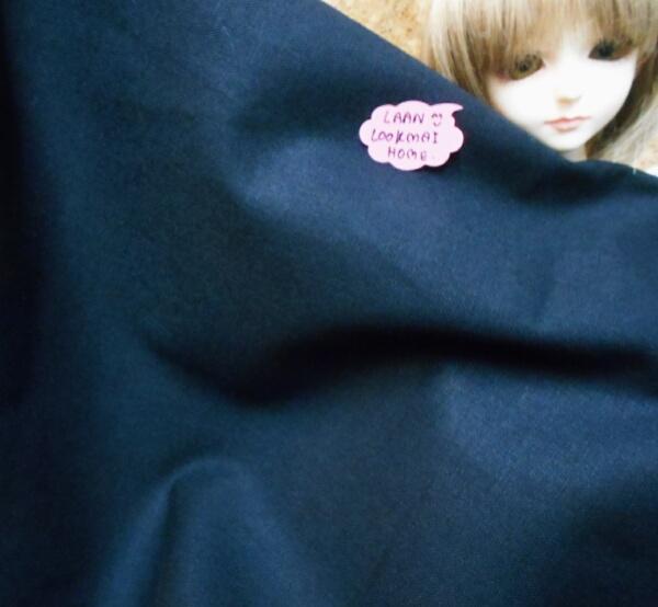 ผ้าพื้นคอตตอน 100 % สีดำ แหล่งหาในไทยค่ะ -ขนาด 1/4 เมตร(50x55cm)