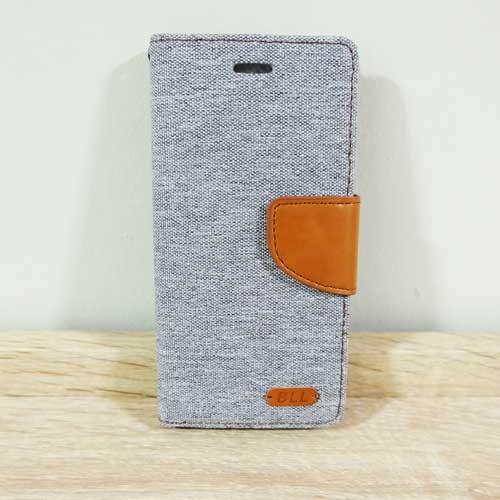 เคสไอโฟน 5/5S แบบฝาพับ สีเทา
