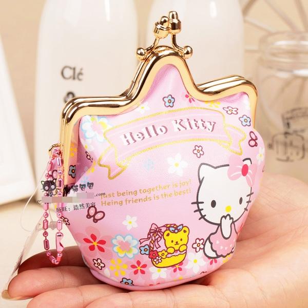 [Preorder] กระเป๋าใส่เหรียญ Hello Kitty แบบที่ 3 (2 ใบ/แพ็ค คละแบบได้) Korean Japanese hello kitty purse Korean cute cartoon fashion ladies bag change clip coins
