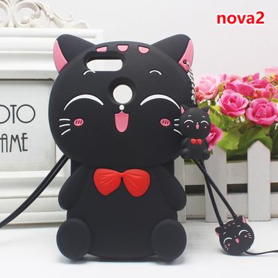 (006-054)เคสมือถือ Case Huawei Nova 2 เคสนิ่มการ์ตูน 3D แมวน่ารักๆ