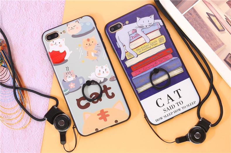(025-278)เคสมือถือไอโฟน Case iPhone 7 Plus เคสนิ่มลายการ์ตูนเกาหลีน่ารักๆ