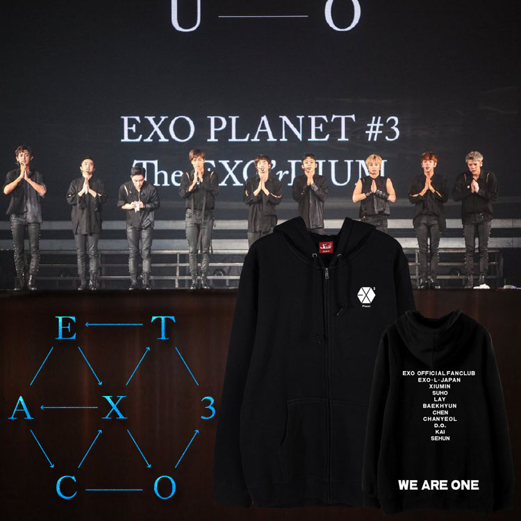 Jacket hoodie EXO PLANET#3 WE ARE ONE -ระบุสี/ไซต์-