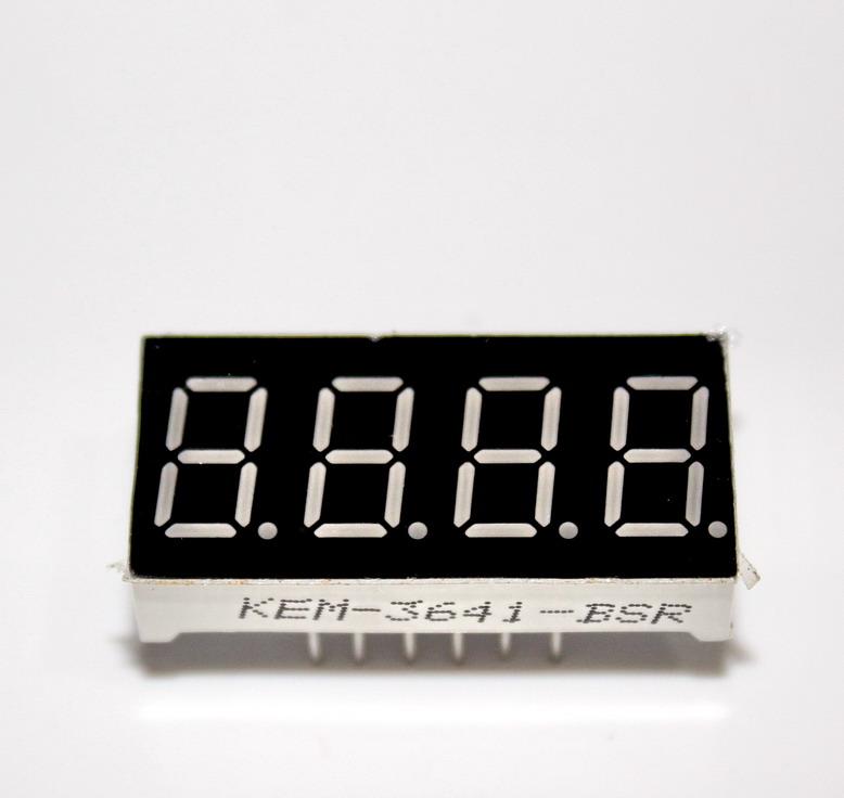 "7 Segment 0.36"" Common Anode 4 digit Red ไฟ 7 segment 0.36"" 4 หลัก สีแดงแบบไฟบวกร่วม 3461B"