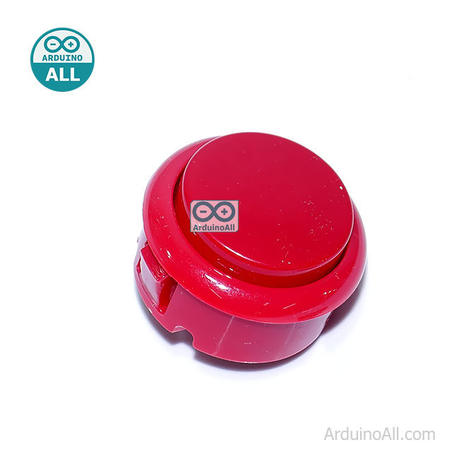 Arcade Push Button สวิตช์ปุ่มกดติดปล่อยดับ สีแดง