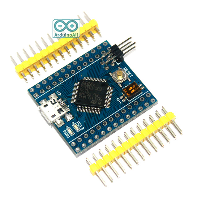 STM32F103RCT6 Mini STM32 cortex-M3 32bit Clock 72Mhz Flash 256K RAM 48K Arduino Compatible