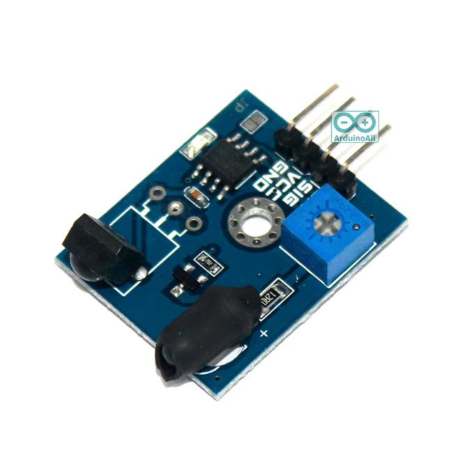 Obstacle Infrared avoidance tracking sensor switch 38KHz 2-180CM adjustable : เซนเซอร์สวิตช์ตรวจจับวัตถุแบบอิaฟาเรด ระยะ 2-180CM