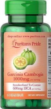 Puritan's Pride Garcinia Cambogia 1000mg 60 capslues. สารสกัดจากผลส้มแขก ควบคุมน้ำหนัก สลายไขมันเก่ายับยั้งไขมันใหม่ ไม่หิวบ่อย