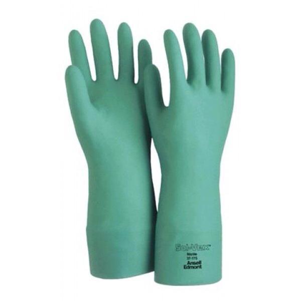 ถุงมือไนไตร กันสารเคมี ชนิดปลีก(คู่) Chemical resistant gloves