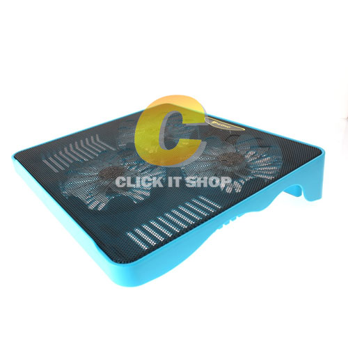 Cooler Pad NUBWO NF100 Trident (3Fan) Blue