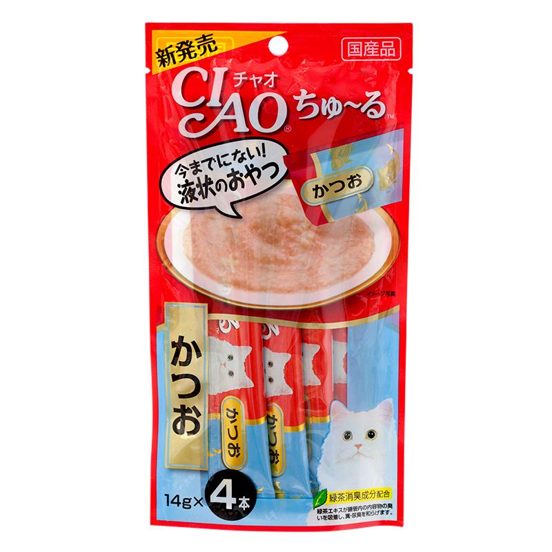 CIAO ขนมแมวเลีย รสทูน่าพันธ์ท้องแถบ ฟ้า