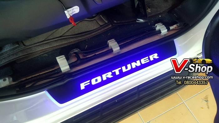 1126 สครัฟเพลทแบบมีไฟ New Fortuner งาน FITT
