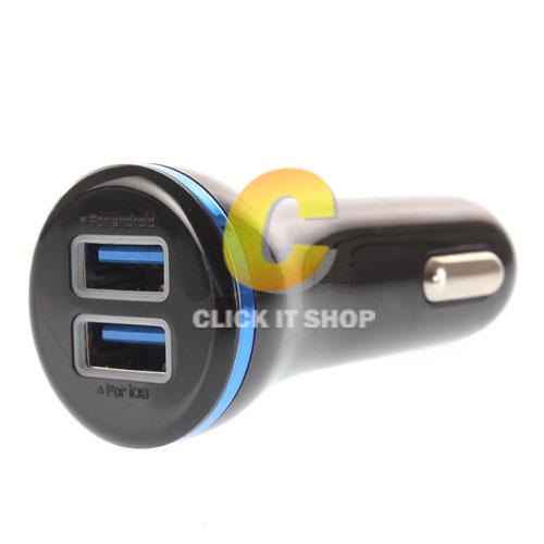 Dual USB Car Charger (UC-231) 'OKER' Black