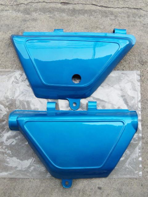 ฝากระเป๋า TS100 TS125 สีฟ้า เทียม งานใหม่