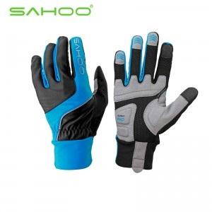 ถุงมือจักรยานเจล เต็มนิ้ว สัมผัสหน้าจอโทรศัพท์ได้ SAHOO 42890
